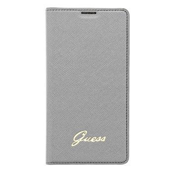 Pouzdro Guess Tori Flip GUBBS5TOS pro Samsung G900 Galaxy S5, stříbrné