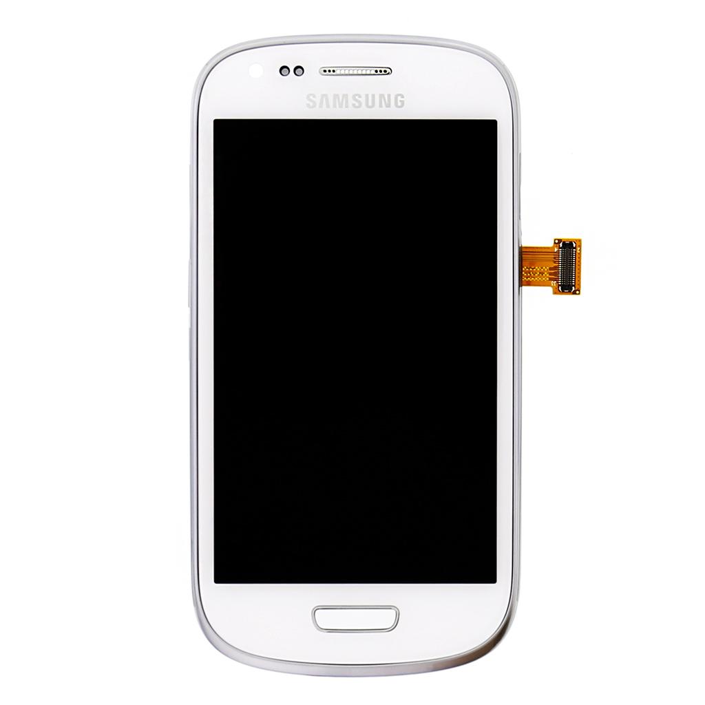 LCD display + Dotyková deska + Přední kryt White pro Samsung i8200 Galaxy S3 mini VE - originál