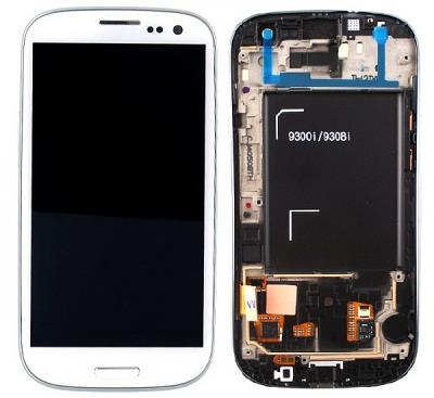LCD display + dotyková plocha + přední kryt White pro Samsung i9301 Galaxy S3 NEO - originál