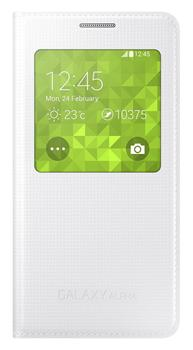Samsung Flip pouzdro S-view EF-CG850BW Galaxy Alpha White