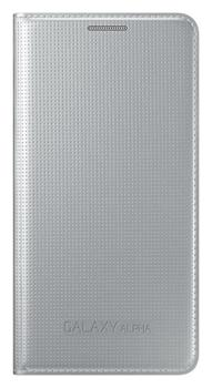 Samsung Folio Flip pouzdro EF-FG850BS Galaxy Alpha Silver