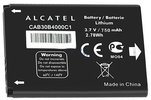 Originální baterie CAB30B4000C1 pro Alcatel One Touch 2010, 750mAh