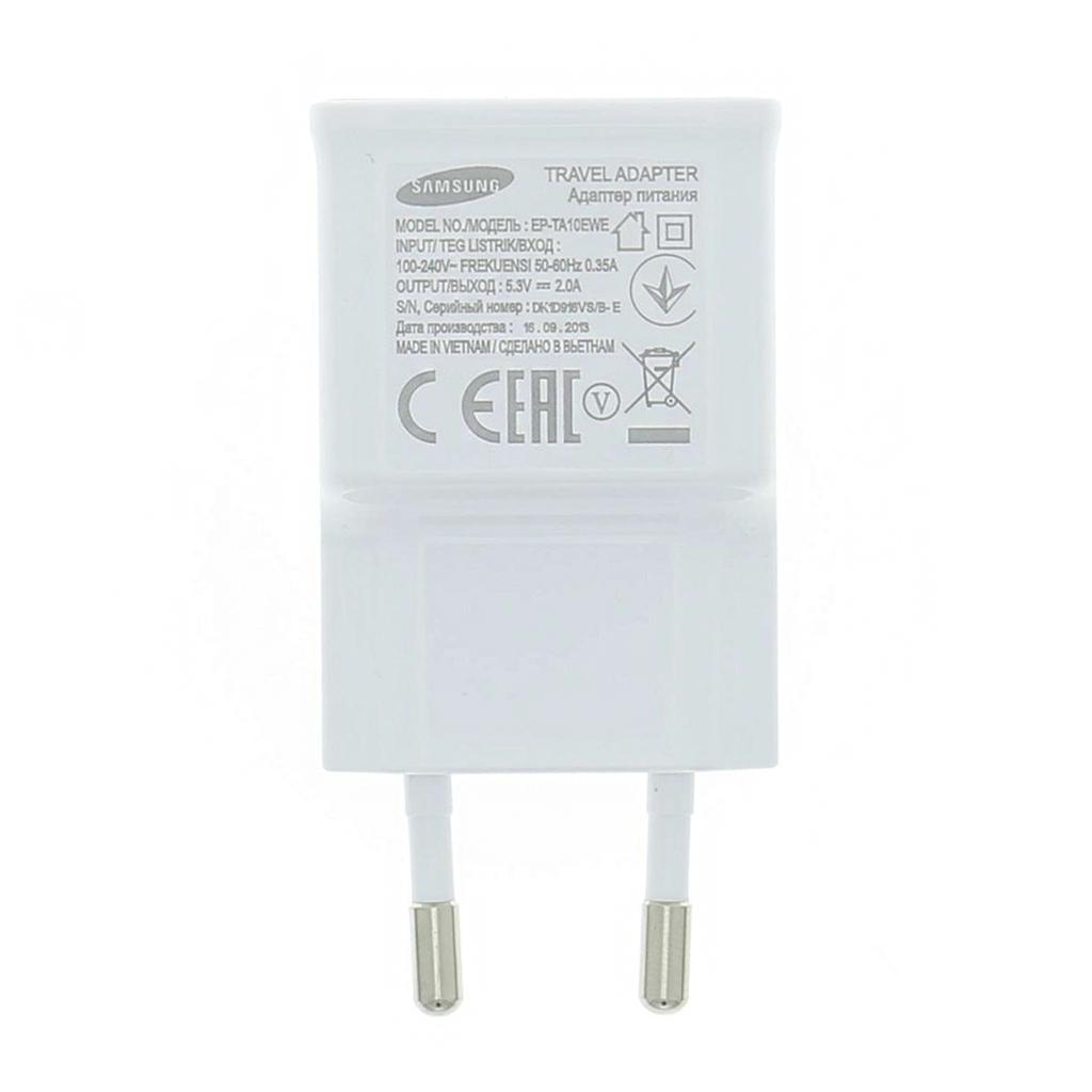 Originální cestovní nabíječka Samsung EP-TA50EWE s USB výstupem, 1.55A White (Bulk)