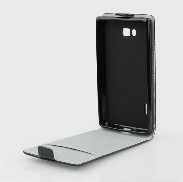 Pouzdro flip na Samsung Galaxy Core LTE ForCell Slim Flexi černé
