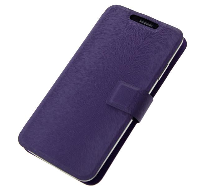 """Univerzální pouzdro BOOK ULTRA Folio Flip velikost L (4,5""""- 5"""") violet"""