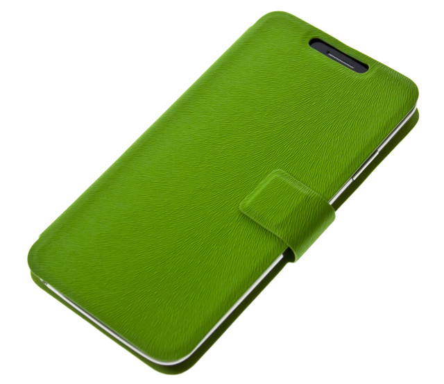 """Univerzální pouzdro BOOK ULTRA Folio Flip velikost L (4,5""""- 5"""") green"""