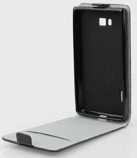 Pouzdro ForCell Slim Flip Flexi pro Samsung S7710 Galaxy Xcover 2, černé