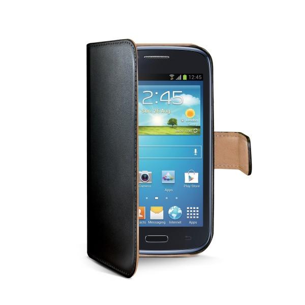 Pouzdro typu kniha CELLY Wally pro Samsung Galaxy Core Plus, PU kůže, černé