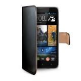 Pouzdro typu kniha CELLY Wally pro HTC Desire 516, PU kůže, černé
