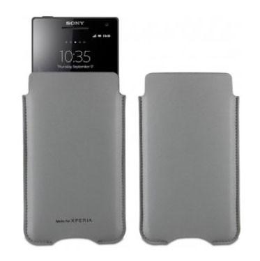 Kožené pouzdro Roxfit Vertical Slip pro Sony Xperia T,M,L, šedé