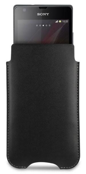 Kožené pouzdro Roxfit Vertical Slip pro Sony C5303 Xperia SP, černé