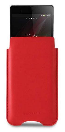 Kožené pouzdro Roxfit Vertical Slip pro Sony C6903 Xperia Z1, červené