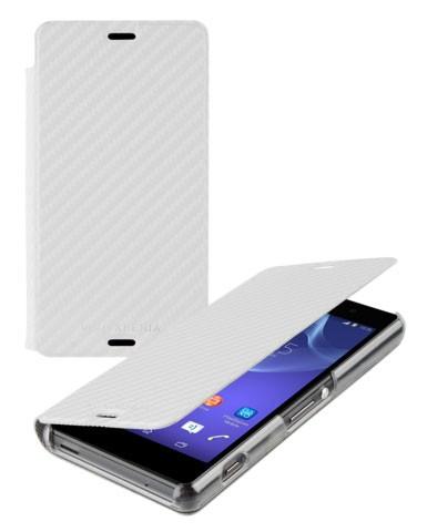 Pouzdro typu kniha Roxfit Folio pro Sony D5803 Xperia Z3 Compact, White
