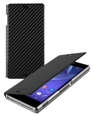 Pouzdro typu kniha Roxfit Folio pro Sony D5803 Xperia Z3 Compact, Black
