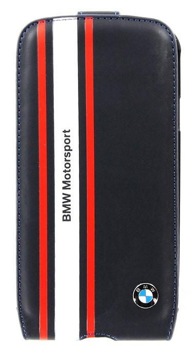 Kožené pouzdro BMW Motorsport Edition Flip pro Samsung i9300 Galaxy S3, Navy