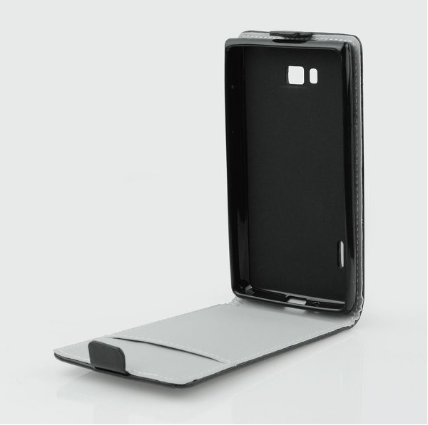 Pouzdro flip na HTC Desire 620 Slim Flexi černé - VÝPRODEJ!!