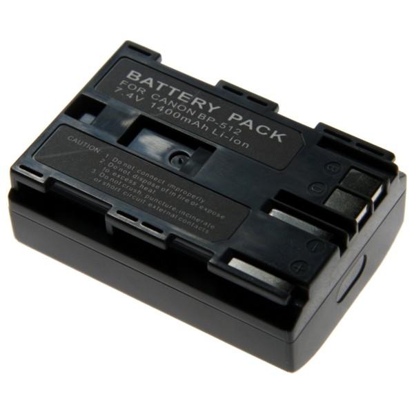 Baterie Extreme Energy typ Canon BP-512, LI-ION 1400 mAh, stříbrná/hnědá