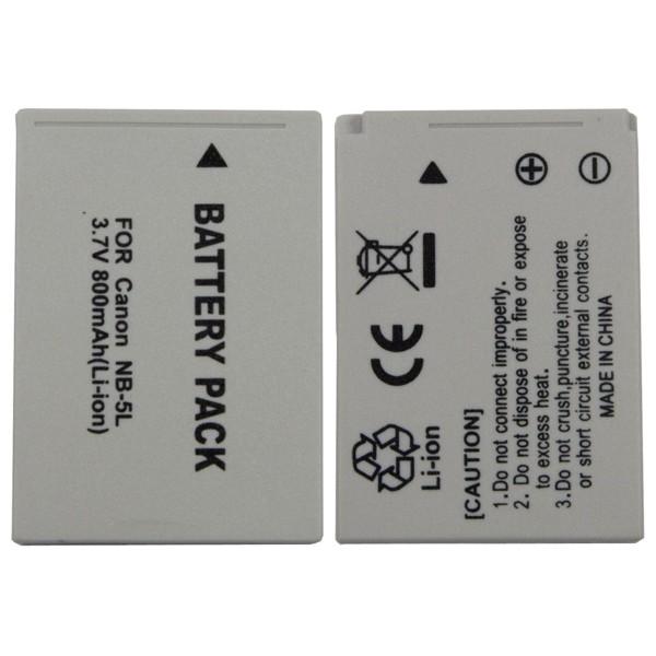 Baterie Extreme Energy typ Canon NB-5L, Li-Ion 1200 mAh, šedá