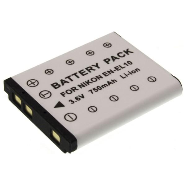 Baterie Extreme Energy typ Nikon EN-EL10, 900 mAh, LI-ION, černá