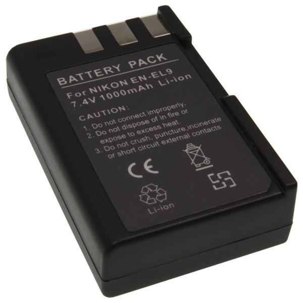 Baterie Extreme Energy typ Nikon EN-EL9, 1100 mAh, LI-ION, černá