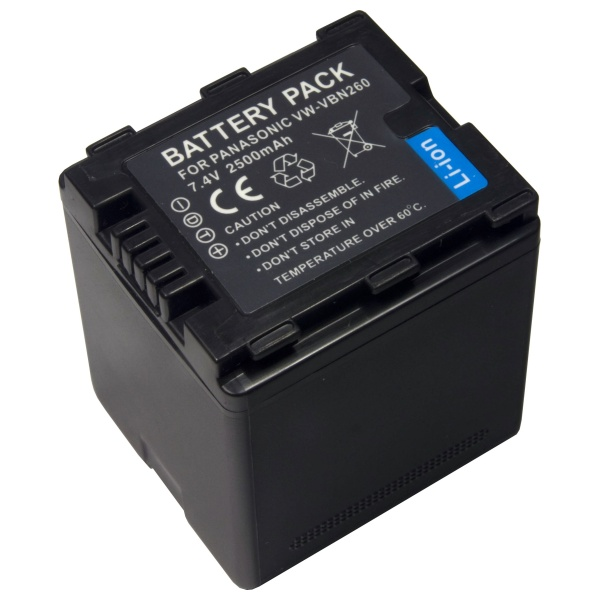 Baterie Extreme Energy typ Panasonic VW-VBN260, Li-Ion 2500mAh