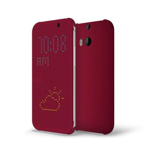Pouzdro HTC HC M110 Dot Folio pro HTC One E8, fialové (Bulk)