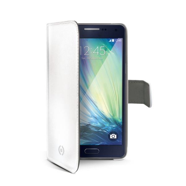 Pouzdro CELLY Wally pro Samsung Galaxy A3 PU kůže bílé
