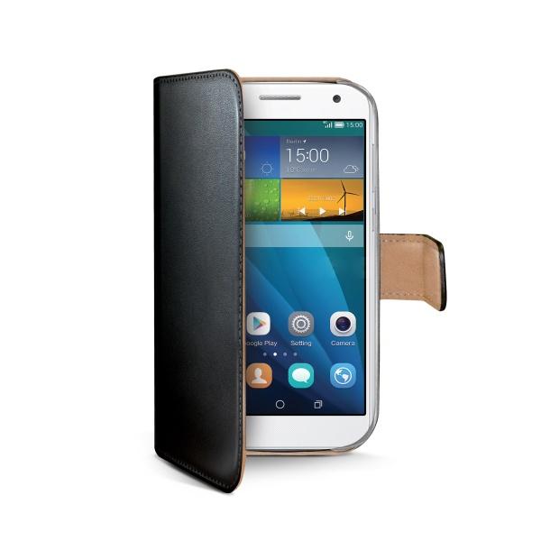Kožené pouzdro typu kniha CELLY Wally pro Huawei Ascend G7, černé