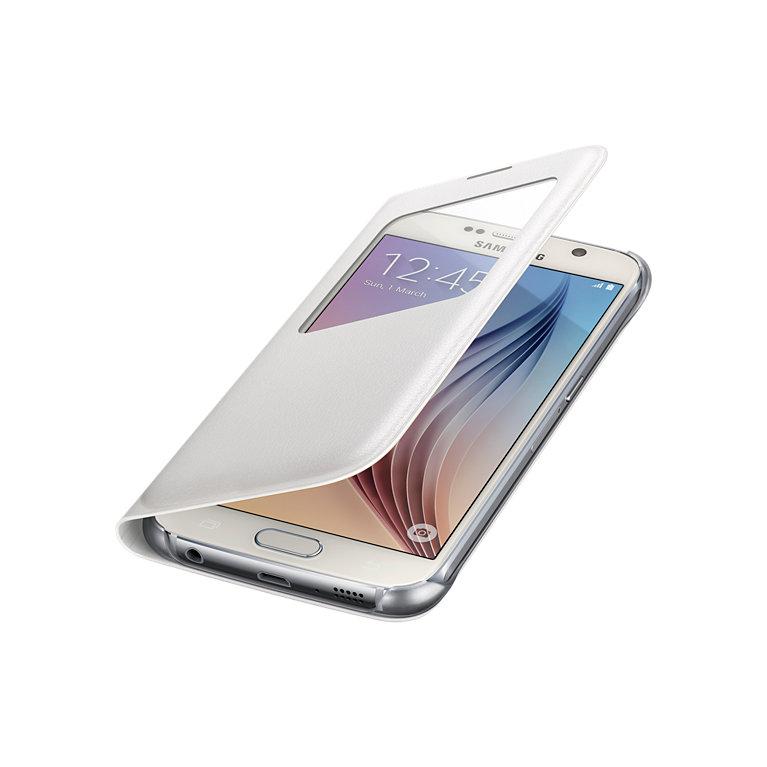 Pouzdro na mobil Samsung Galaxy S6 EF-CG920PWE S-view bílé