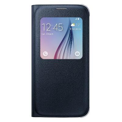 Originální pouzdro Samsung EF-CG920PB S-View pro Samsung G920 Galaxy S6, černé (EU Blister)