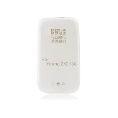 Silikonové pouzdro Ultra Slim 0,3mm pro Samsung G130 Galaxy Young 2, čiré