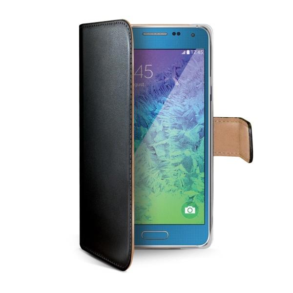 Kožené pouzdro typu kniha CELLY Wally pro Samsung A7 Galaxy A700, černé