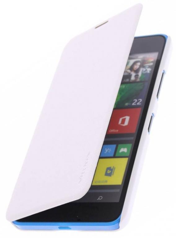 Pouzdro Nillkin Sparkle Folio na Nokia Lumia 435 bílé