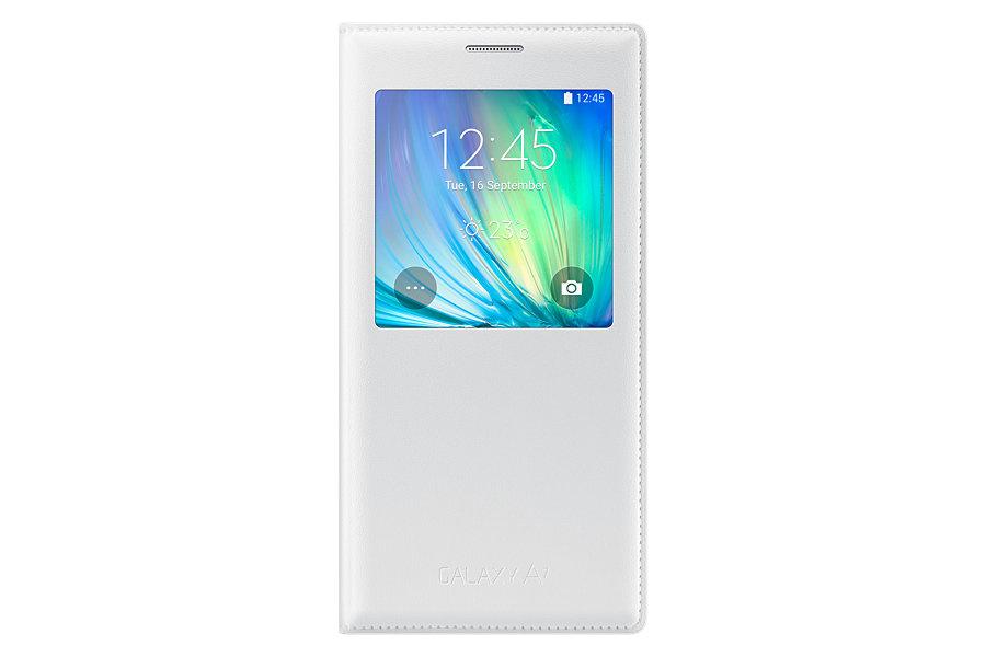 Samsung flipové pouzdro s oknem EF-CA700BWE pro Galaxy A7 bílé