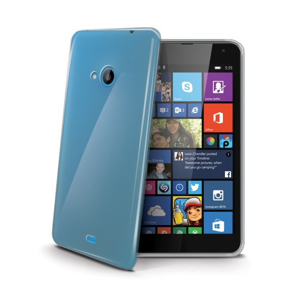Silikonové TPU pouzdro CELLY Gelskin pro Nokia Lumia 535, bezbarvé