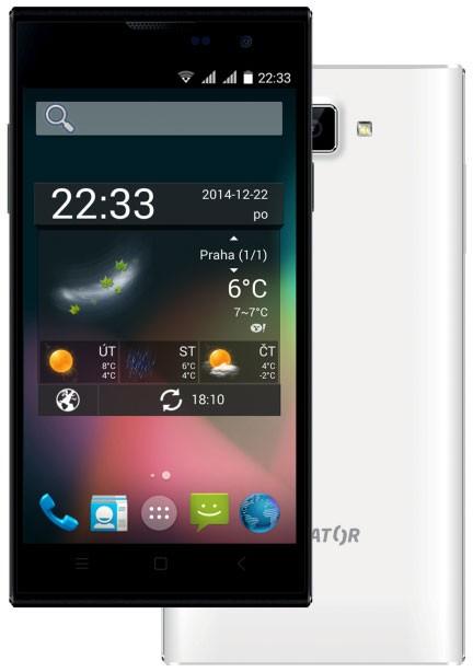 Mobilní telefon Aligator S4510 Dual SIM White