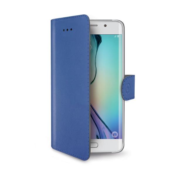 Pouzdro CELLY Wally pro Samsung Galaxy S6 Edge modré