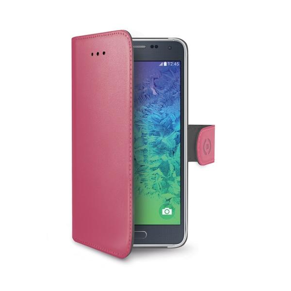 Pouzdro CELLY Wally pro Samsung Galaxy Alpha růžové