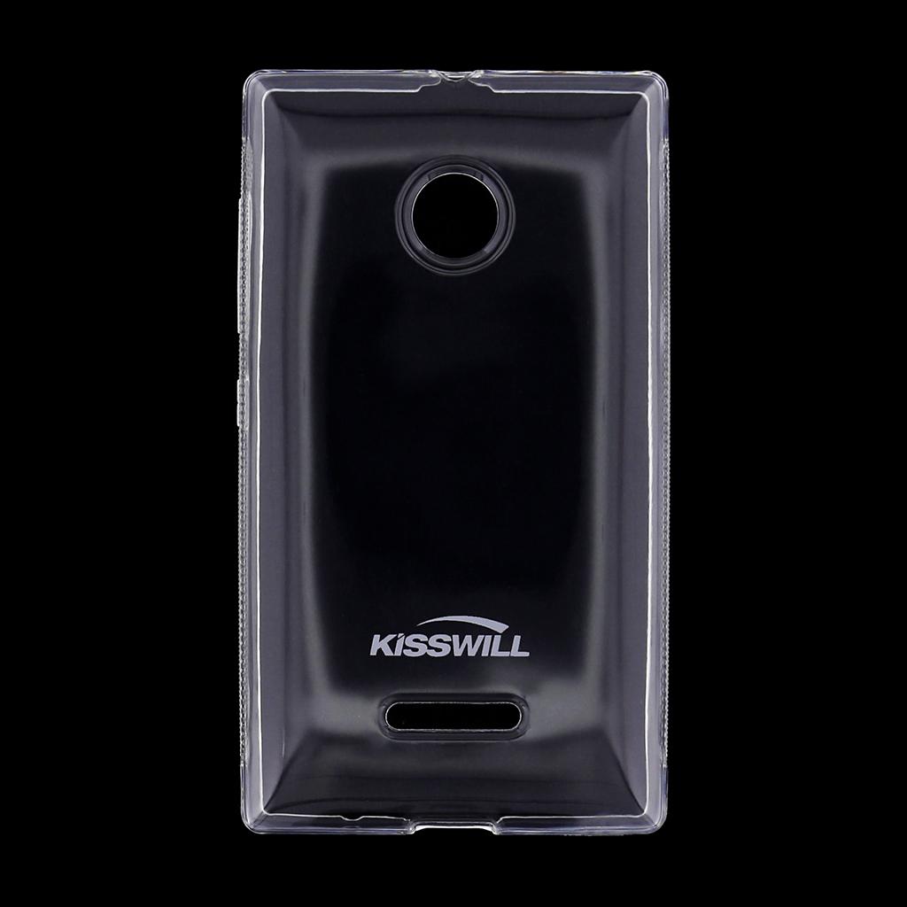 Kisswill silikonové pouzdro Nokia Lumia 435 bílé
