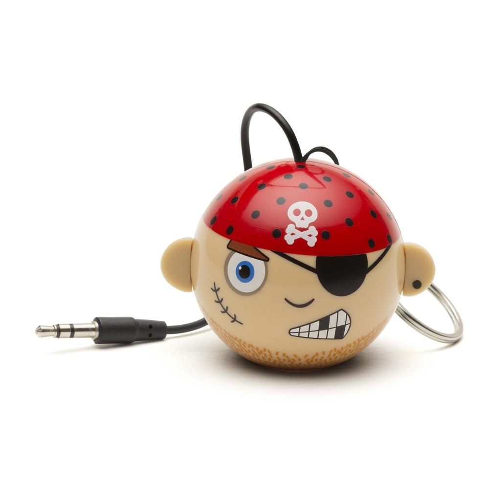 Reproduktor KITSOUND Mini Buddy Pirate, 3,5 mm jack, růžový