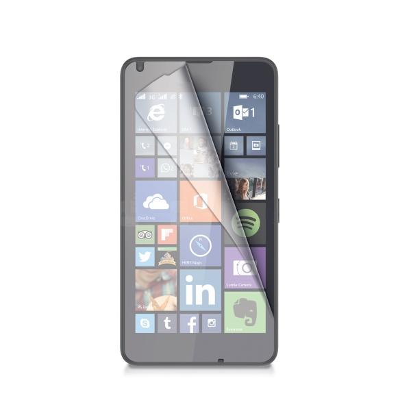 Ochranná fólie CELLY Microsoft Lumia 640/640 Dual SIM lesklá, 2ks