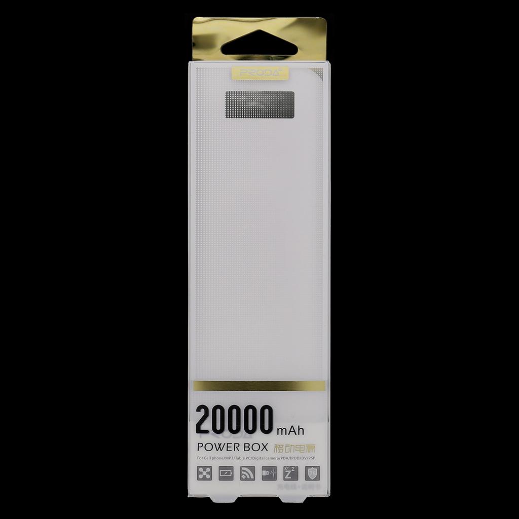 Remax Proda PowerBank 20000mAh Li-Pol bílá