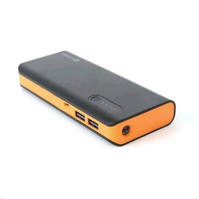 POWERBANK 8000mAh s LED svítilnou, černo-oranžová