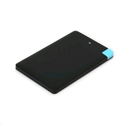 POWERBANK 2000mAh polymer Kreditní karta, černá