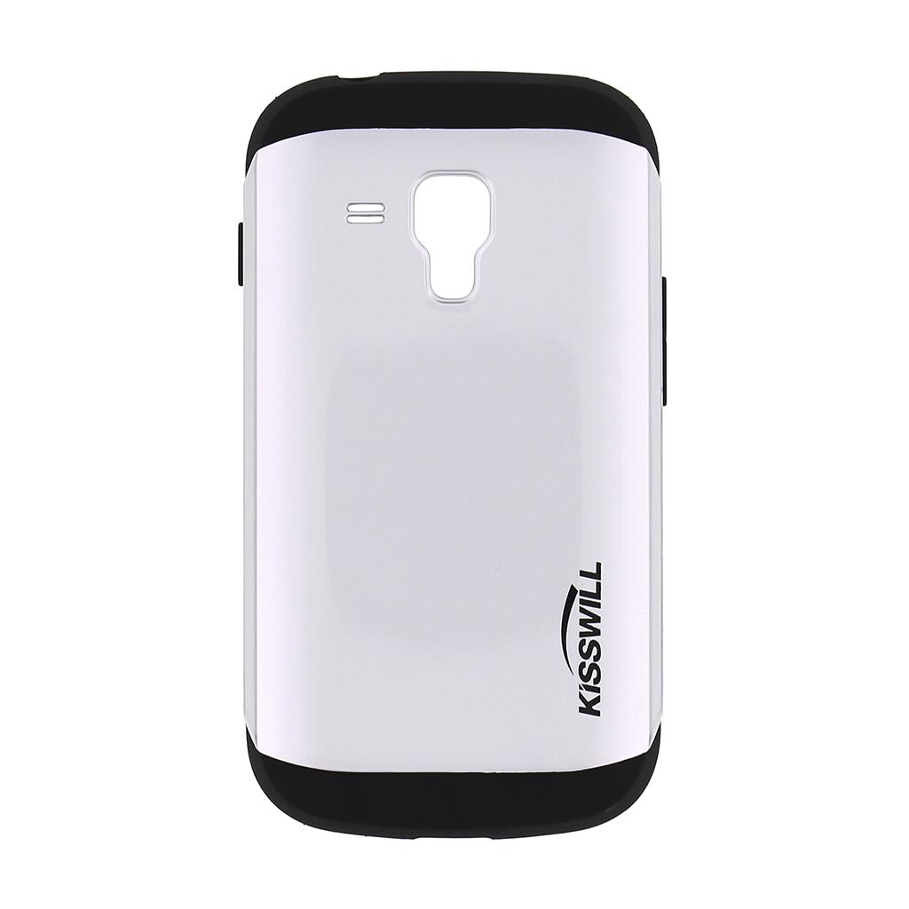 Pouzdro Kisswill Slim Armor pro Samsung Trend S7580 stříbrné