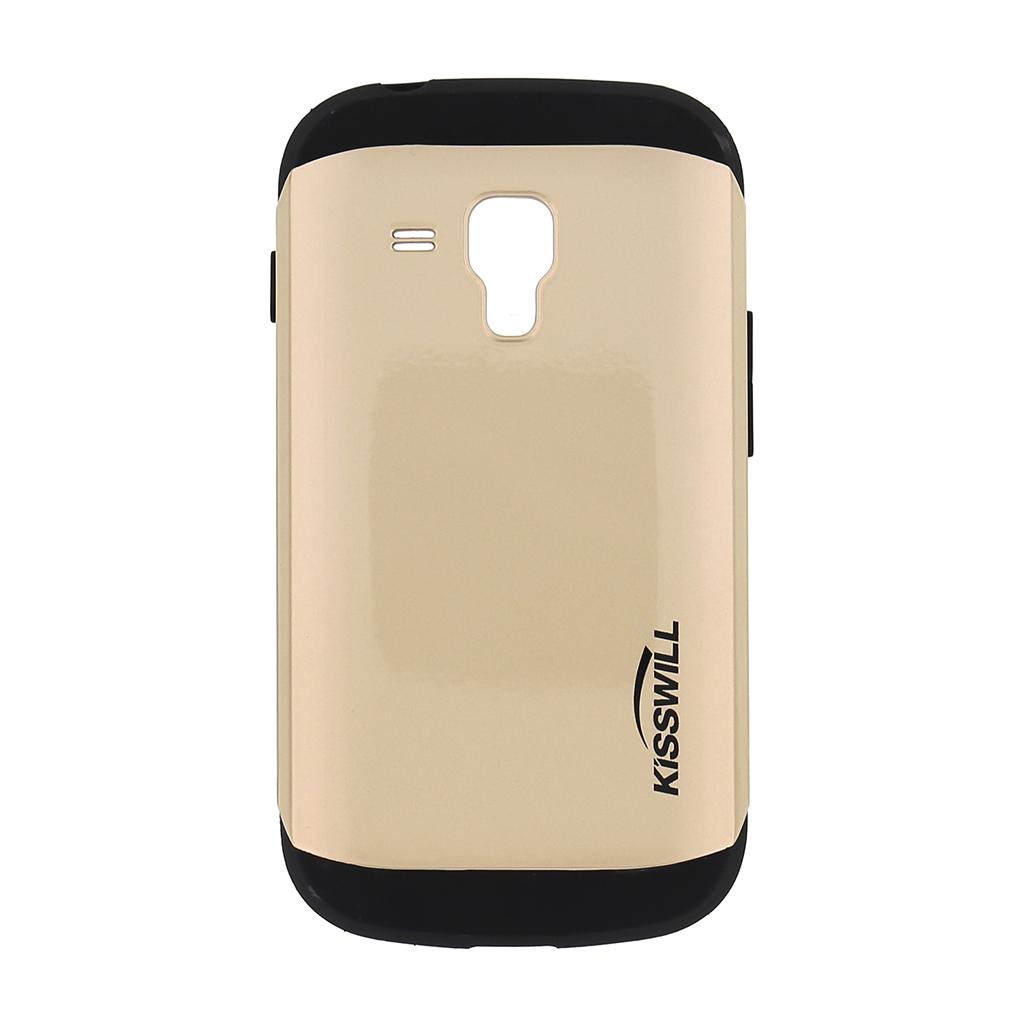 Pouzdro Kisswill Slim Armor pro Samsung Trend S7580 zlaté