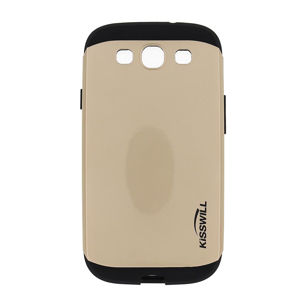 Pouzdro Kisswill Slim Armor pro Samsung Galaxy S3 i9300 zlaté