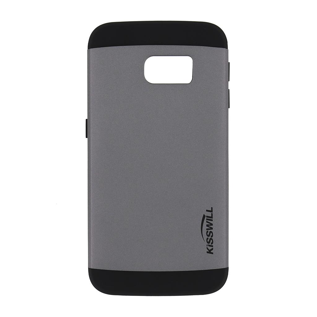 Pouzdro Kisswill Slim Armor pro Samsung S6 Edge G925 šedé