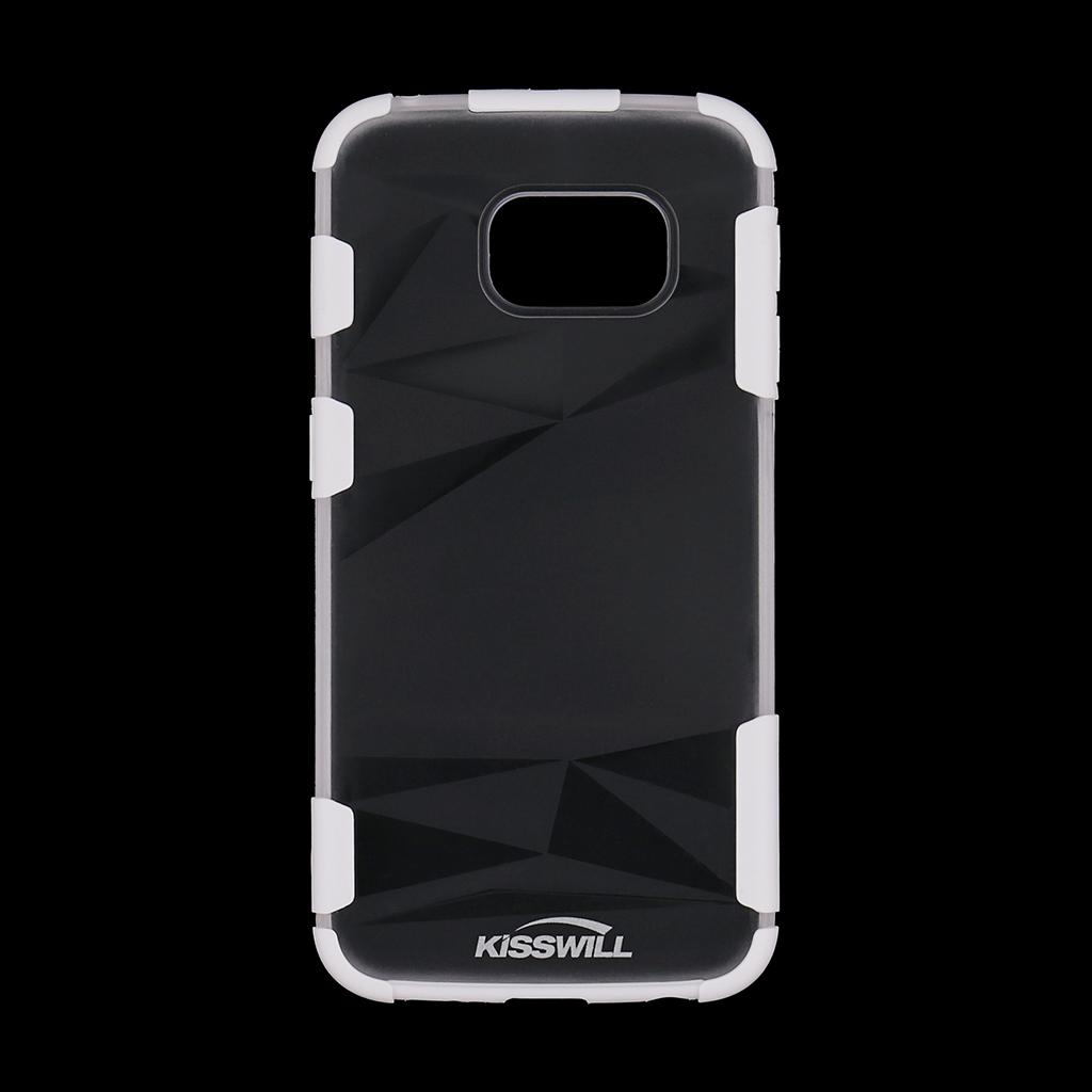 Pouzdro Kisswill Fashion pro Samsung S6 G925 Edge bílé