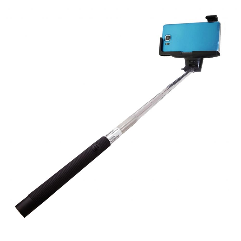 Selfie stick bluetooth s držákem pro telefon a fotoaparát